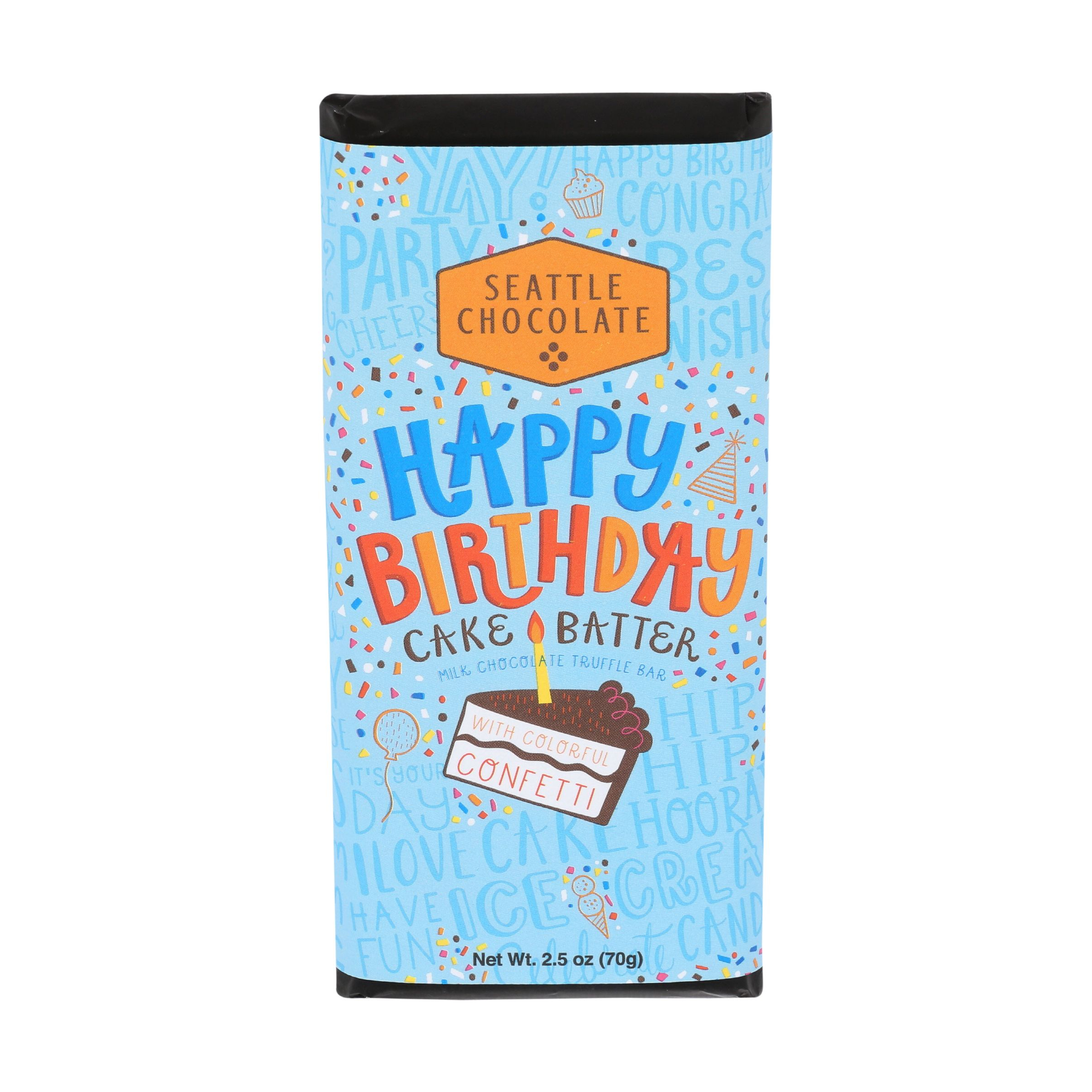 Amazing Chocolate Bar Happy Birthday Cake Batter Truffle Bar 2 5 Oz Birthday Cards Printable Opercafe Filternl